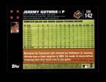 2007 Topps Update #142  Jeremy Guthrie  Back Thumbnail