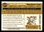 2009 Topps Heritage #632  Billy Wagner  Back Thumbnail