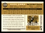2009 Topps Heritage #508  Alex Cora  Back Thumbnail
