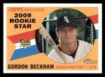 2009 Topps Heritage #699  Gordon Beckham  Front Thumbnail
