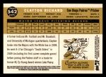 2009 Topps Heritage #542  Clayton Richard  Back Thumbnail