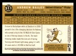2009 Topps Heritage #511  Andrew Bailey  Back Thumbnail