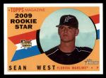 2009 Topps Heritage #685  Sean West  Front Thumbnail