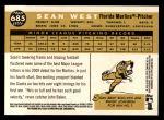 2009 Topps Heritage #685  Sean West  Back Thumbnail
