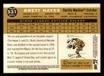 2009 Topps Heritage #531  Brett Hayes  Back Thumbnail