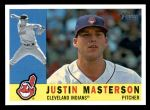 2009 Topps Heritage #619  Justin Masterson  Front Thumbnail