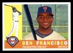 2009 Topps Heritage #636  Ben Francisco  Front Thumbnail