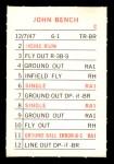 1969 Topps Milton Bradley  Johnny Bench  Back Thumbnail
