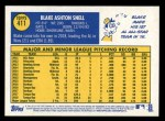 2019 Topps Heritage #411 A Blake Snell  Back Thumbnail