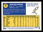 2019 Topps Heritage #93  Brian Anderson  Back Thumbnail