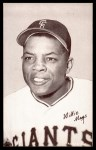 1962 Exhibits Stat Back  Willie Mays  Front Thumbnail