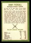 1963 Fleer #29  Jimmy Piersall  Back Thumbnail