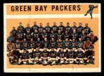 1960 Topps #60   Packers Team Checklist Front Thumbnail