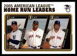 2005 Topps Update #135   -  Alex Rodriguez / David Ortiz / Manny Ramirez AL HR Leaders Front Thumbnail