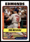 2005 Topps Update #189   -  Jim Edmonds All-Star Front Thumbnail
