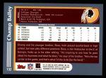 2003 Topps #132  Champ Bailey  Back Thumbnail