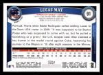 2011 Topps #91  Lucas May  Back Thumbnail