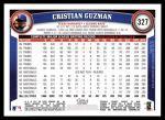 2011 Topps #327  Christian Guzman  Back Thumbnail