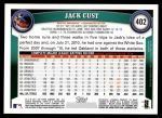 2011 Topps #402  Jack Cust  Back Thumbnail