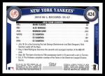 2011 Topps #424   Yankees Team Back Thumbnail