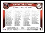 2011 Topps #547  Albert Pujols  Back Thumbnail
