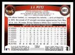 2011 Topps #601  J.J. Putz  Back Thumbnail