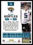 2016 Score #148  Blake Bortles  Back Thumbnail