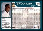 2001 Topps Traded #15 T Andres Galarraga  Back Thumbnail