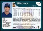 2001 Topps Traded #30 T Mike Sirotka  Back Thumbnail