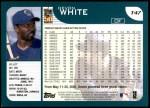 2001 Topps Traded #47 T Devon White  Back Thumbnail