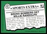 2001 Topps Traded #124 T  -  Willie Randolph 76  Back Thumbnail