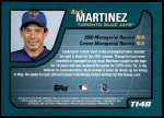 2001 Topps Traded #148 T Buck Martinez  Back Thumbnail