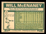 1977 O-Pee-Chee #50  Will McEnaney  Back Thumbnail