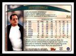 1998 Topps #84  Jeff George  Back Thumbnail