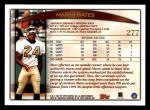 1998 Topps #277  Mario Bates  Back Thumbnail