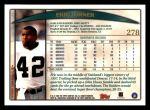 1998 Topps #278  Eric Turner  Back Thumbnail