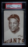 1963 Exhibits Stat Back  Willie Mays  Front Thumbnail