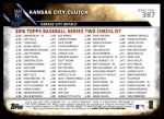 2016 Topps #387   -  Eric Hosmer / Mike Moustakas Kansas City Clutch Back Thumbnail