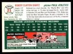 1954 Topps Archives #21  Bobby Shantz  Back Thumbnail