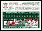 1954 Topps Archives #45  Richie Ashburn  Back Thumbnail