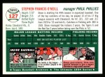 1954 Topps Archives #127  Steve O'Neill  Back Thumbnail