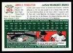 1954 Topps Archives #165  Jim Pendleton  Back Thumbnail
