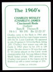 1978 TCMA The 1960's #292  Charlie James  Back Thumbnail