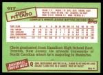 1985 Topps Traded #91 T Chris Pittaro  Back Thumbnail