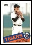 1985 Topps Traded #91 T Chris Pittaro  Front Thumbnail
