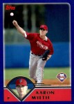 2003 Topps Traded #38 T Aaron Myette  Front Thumbnail