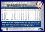 2003 Topps Traded #67 T Armando Benitez  Back Thumbnail