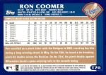 2003 Topps Traded #76 T Ron Coomer  Back Thumbnail