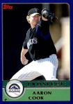 2003 Topps Traded #150 T  -  Aaron Cook Prospect Front Thumbnail
