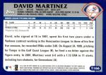 2003 Topps Traded #166 T  -  David Martinez First Year Back Thumbnail